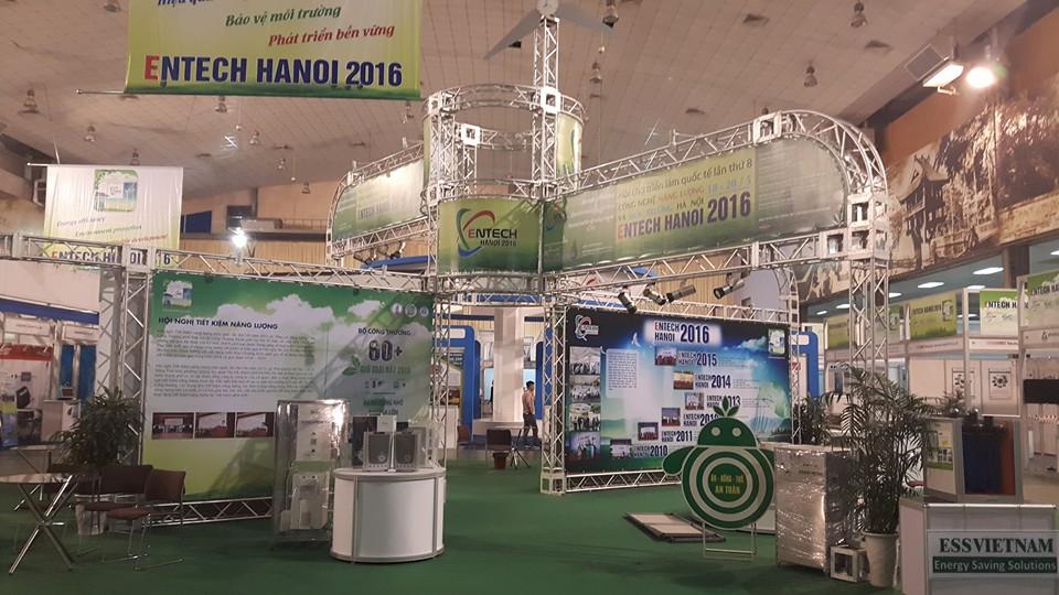 Gia nhiệt điện từ Hoàng Kim tham gia triển lãm Quốc tế Năng lượng hiệu quả - Môi trường Hà Nội 2016 (ENTECH HANOI 2016)