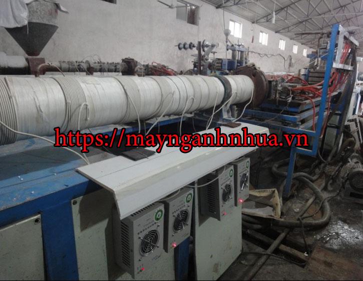 gia nhiệt điện từ máy đùn ống kéo chỉ, máy màng pp pe